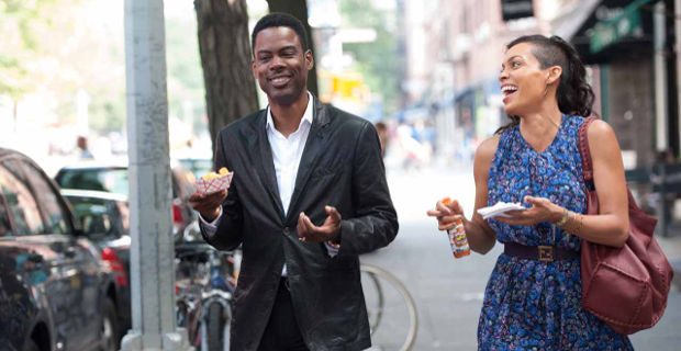 Chris-Rock-and-Rosario-Dawson-in-NYC-in-Top-Five-Movie-Film-2014