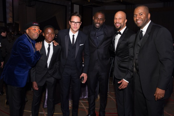 Honorary Award recipient Spike Lee, Abraham Attah, Cary Joji Fukunaga, Idris Elsba, Common and Malcolm Lee at the 2015 Governors Awards in The Ray Dolby Ballroom at Hollywood & Highland Center® in Hollywood, CA, on Saturday, November 14, 2015.