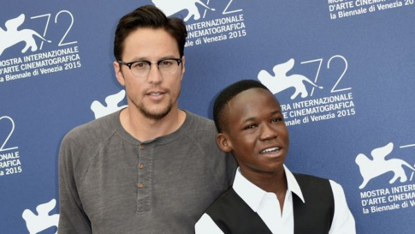 Mandatory Credit: Photo by AGF s.r.l./REX Shutterstock (5036354m) The director Cary Fukunaga, Abraham Attah 'Beasts of no nation' photocall, 72nd Venice Film Festival, Italy - 03 Sep 2015