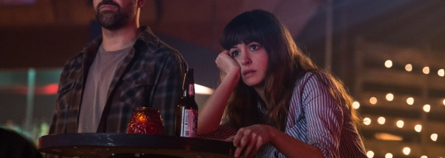 Anne Hathaway and Jason Sudeikis in Colossal